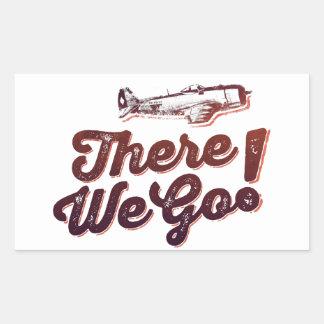 There We Go! Retro Fighter Plane - Trendium Retro Sticker