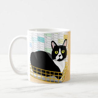 """There's a cat in my in-tray"" funny Lucas cat mug"