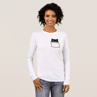 There's a cat in your pocket! long sleeve T-Shirt