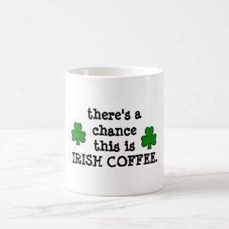 there's a chance...for irish coffee coffee mug
