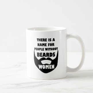 Theres a name for people without beards... WOMEN Coffee Mug