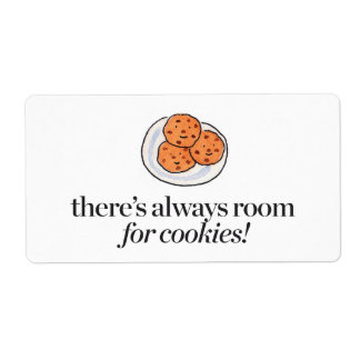 There's Always Room for Cookies Shipping Label