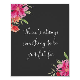 There's always something to be grateful for poster