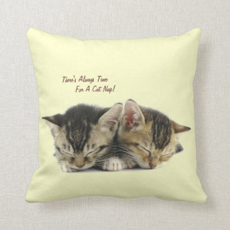 There's Always Time For A Cat Nap Throw Pillow