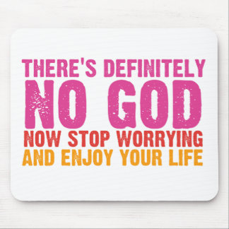 There's Definitely No God (Vertical) Mouse Pad