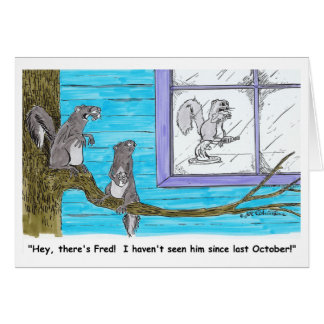 THERE'S FRED card