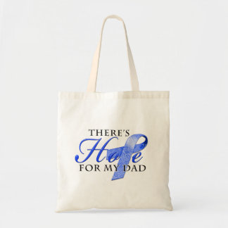 There's Hope for Colon Cancer Dad Canvas Bags