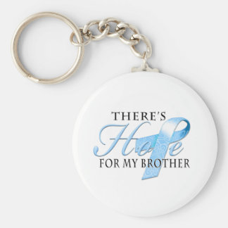 There's Hope for Prostate Cancer Brother Basic Round Button Keychain