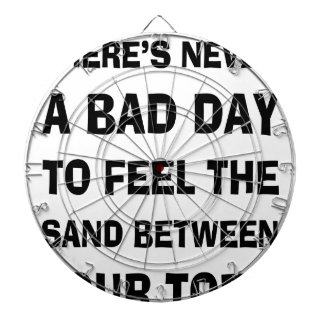 There's Never a Bad Day To feel The Sand Between Y Dartboard