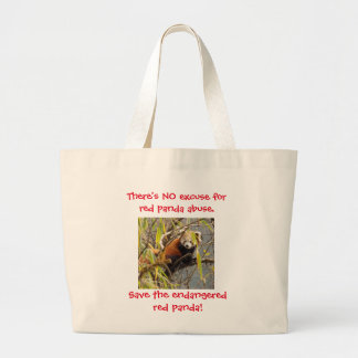 """""""There's NO excuse for red panda abuse"""" tote"""