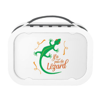 There's No Lizard - Funny French Saying Lunch Boxes