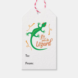 There's No Lizard - Funny French Saying Pack Of Gift Tags