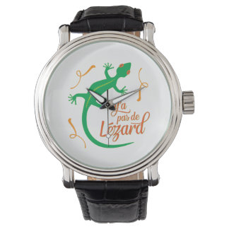 There's No Lizard - Funny French Saying Wrist Watches