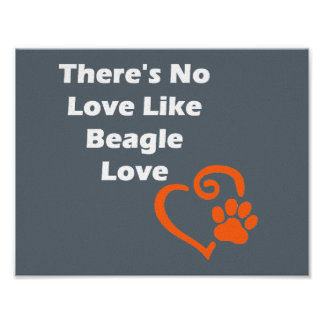 There's No Love Like Beagle Love Poster