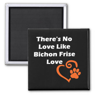 There's No Love Like Bichon Frise Love Square Magnet