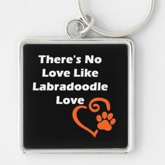 There's No Love Like Labradoodle Love Keychain