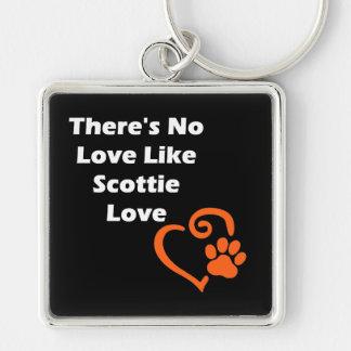 There's No Love Like Scottie Love Silver-Colored Square Keychain