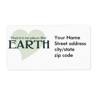 There's no place like earth shipping label