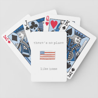 There's No Place Like Home | Flag of The USA Bicycle Playing Cards