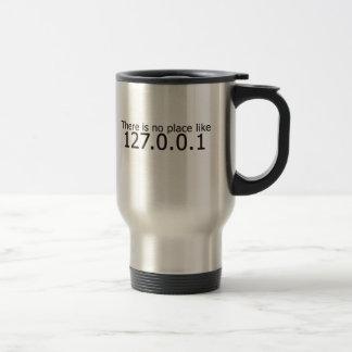 Theres no place like home ip address travel mug