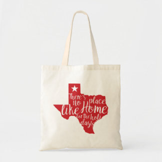 There's No Place Like Home Texas Christmas Tote