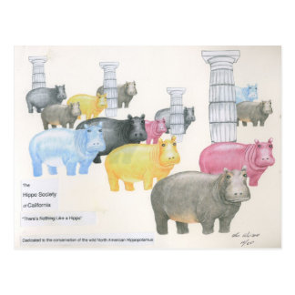 There's Nothing Like a Hippo Postcard
