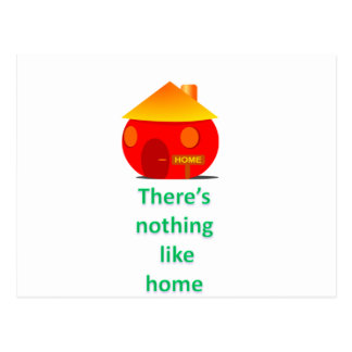 There's nothing like home postcard