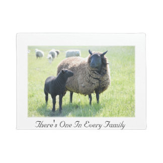 There's One In Every Family Black Sheep Doormat