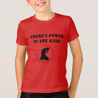 There's Power in The Knee - Boys Tee