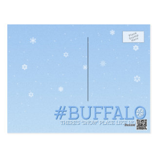 "There's ""Snow"" Stopping us now Buffalo Postcard"
