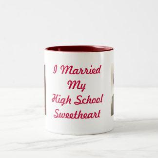 Theresa1976[1], ted1975[1], I Married My High S... Two-Tone Coffee Mug