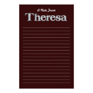 "Theresa ""Diamond Bling""  Black Stationery"