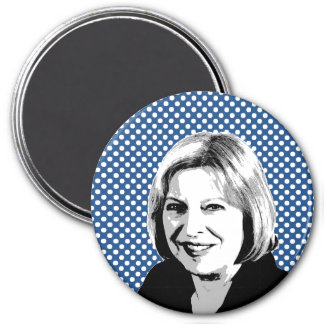 Theresa May 3 Inch Round Magnet