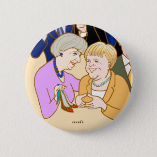 Theresa May.Angela Merkel-Prime Minister 2 Inch Round Button