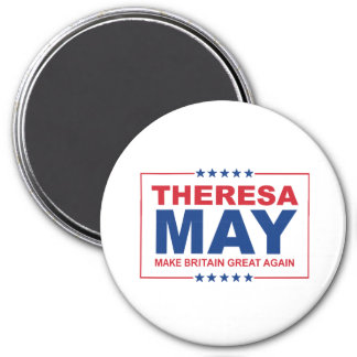 Theresa May - Make Britain Great Again - -  3 Inch Round Magnet