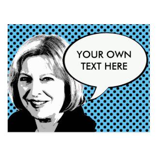 Theresa May Postcard