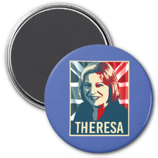 Theresa May Poster - -  3 Inch Round Magnet