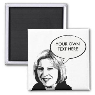 Theresa May Square Magnet