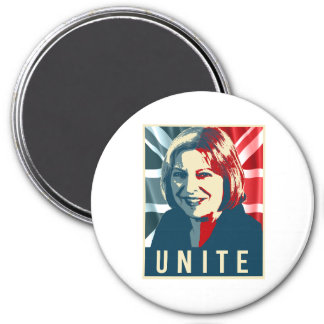 Theresa May Unite Poster - -  3 Inch Round Magnet