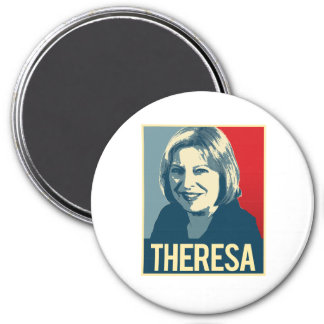 Theresa Propaganda Poster -  3 Inch Round Magnet