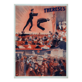 Thereses Hypnotist Vintage Magic Poster