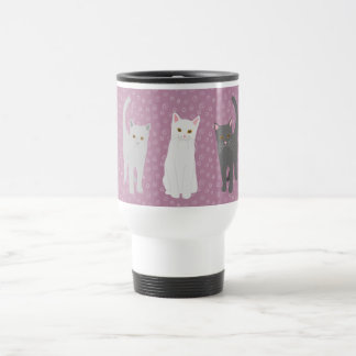 Thermal cup of cats three-colored