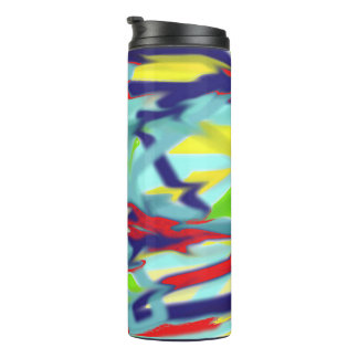 Thermal Tumbler - Blue Chaos into Form Design