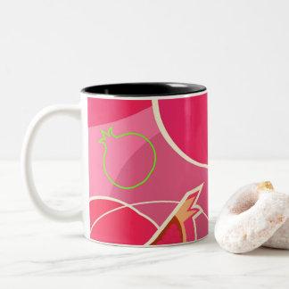 Thermo mug with pomegranate illustration