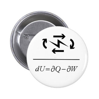 Thermodynamics First Law 2 Inch Round Button