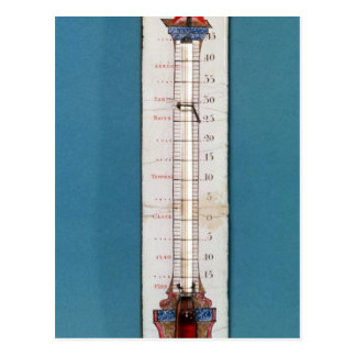 Thermometer surmounted with a phrygian bonnet postcard