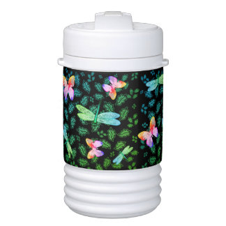 Thermos Water Bottle Botannical Dragonflies Cooler