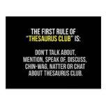 Thesaurus Club Postcard