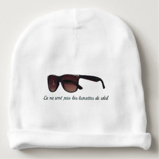 These are note sunglasses baby beanie