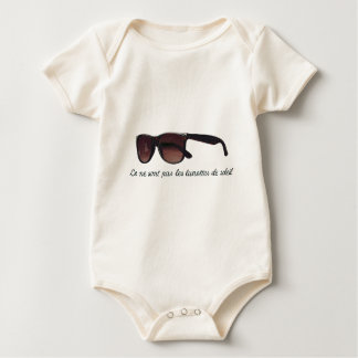 These are note sunglasses baby bodysuit